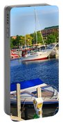 Boats On The Dock Traverse City Portable Battery Charger