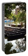 Boats On The Thames River Oxford England Portable Battery Charger