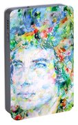 Bob Dylan Watercolor Portrait.3 Portable Battery Charger