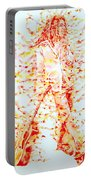 Bob Marley And Guitar - Watercolor Portrait Portable Battery Charger