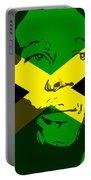 Bob Marley On Jamaican Flag Portable Battery Charger