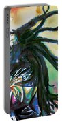 Bob Marley Singing Portrait.1 Portable Battery Charger