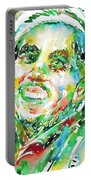 Bob Marley Watercolor Portrait.2 Portable Battery Charger