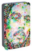 Bob Marley Watercolor Portrait.3 Portable Battery Charger