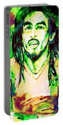 Bob Marley Watercolor Portrait.9 Portable Battery Charger
