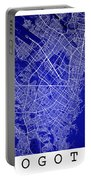 Bogota Street Map - Bogota Colombia Road Map Art On Colored Back Portable Battery Charger