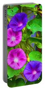 Bohemian Garden Morning Glory Portable Battery Charger