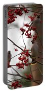 Bohemian Waxwing Portable Battery Charger