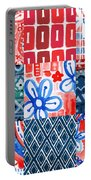 Boho Americana- Patchwork Painting Portable Battery Charger