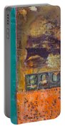 Book Cover Encaustic Portable Battery Charger