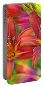 Bold And Beautiful Daylilies Portable Battery Charger