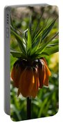 Bold And Showy Orange Crown Imperial Flower  Portable Battery Charger