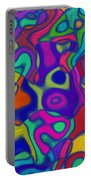 Bold Blue Abstract Decor Portable Battery Charger