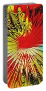 Bold Floral Hat Abstract Portable Battery Charger