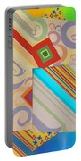 Bold Geometric Abstract  Portable Battery Charger