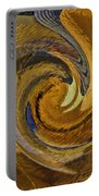 Bold Golden Abstract Portable Battery Charger