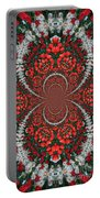 Tulips Kaleidoscope - Red And Green Portable Battery Charger