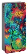 Bold Rich Colorful Landscape Painting Original Art Colored Inspiration By Madart Portable Battery Charger by Megan Duncanson
