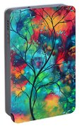 Bold Rich Colorful Landscape Painting Original Art Colored Inspiration By Madart Portable Battery Charger