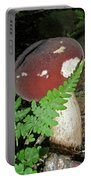Bolete Mushroom And Fern Portable Battery Charger
