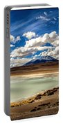 Bolivia Lagoon Clouds Framed Portable Battery Charger