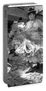 Bolivian Dance Framed Black And White Portable Battery Charger