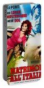 Bolognese Dog Art - Matrimonio All Italiana Movie Poster Portable Battery Charger
