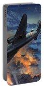 Bombing Scene Artist C E Turner  Portable Battery Charger