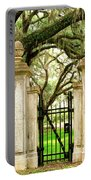 Bonaventure Cemetery Gate Savannah Ga Portable Battery Charger