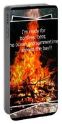 Bonfires And Summertime Portable Battery Charger
