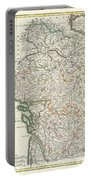 Bonne Map Of Poitou Touraine And Anjou France Portable Battery Charger