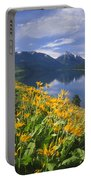 M-05921-bonneville Mountain Reflected In Wallow Lake Portable Battery Charger