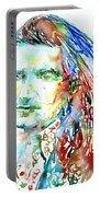 Bono Watercolor Portrait.2 Portable Battery Charger