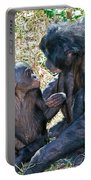 Bonobo Adult Talking To Juvenile Portable Battery Charger