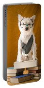 Bookish Dog Portable Battery Charger by Edward Fielding
