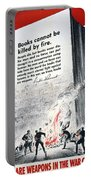 Books Are Weapons In The War Of Ideas 1942 Us World War II Anti-german Poster Showing Nazis  Portable Battery Charger