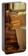 Books On Victorian Sofa Portable Battery Charger
