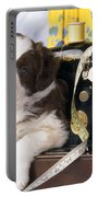Border Collie Puppy With Sewing Machine Portable Battery Charger