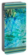 Borderized Abstract Ocean Print Portable Battery Charger