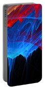 Borealis - Blue And Red Abstract Portable Battery Charger