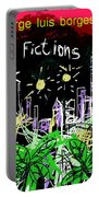 Borges Fictions Poster  Portable Battery Charger