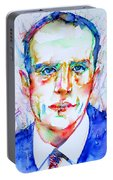 Boris Vian - Colored Pens Portrait Portable Battery Charger