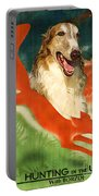 Borzoi Art - Hunting In The Ussr Poster Portable Battery Charger