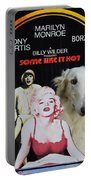 Borzoi Art - Some Like It Hot Movie Poster Portable Battery Charger