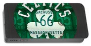 Boston Celtics Basketball Team Retro Logo Vintage Recycled Massachusetts License Plate Art Portable Battery Charger