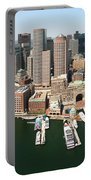 Boston Harbor And Boston Skyline Portable Battery Charger