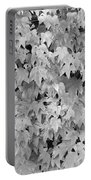 Boston Ivy In Monochrome Portable Battery Charger