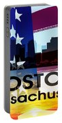 Boston Ma Patriotic Large Cityscape Portable Battery Charger