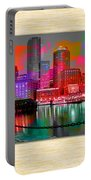 Boston Skyline Painting Portable Battery Charger