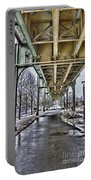 Boston Streetcar Overpass-cambridge V2 Portable Battery Charger